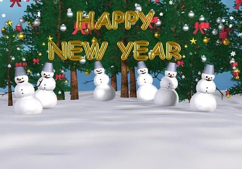 snowman new year screensaver
