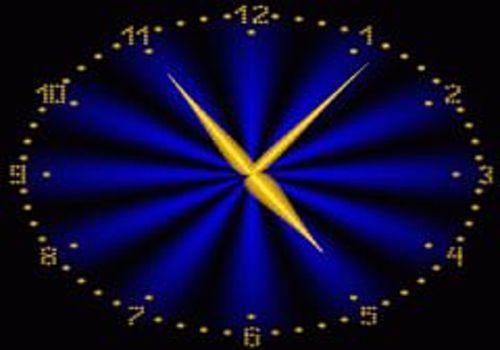 2D_Gold_Clock Screensaver