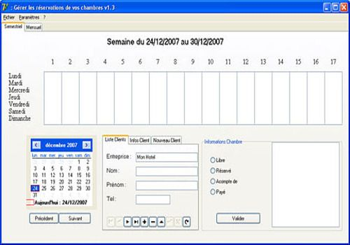 modele planning restauration gratuit