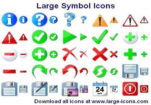 Large Symbol Icons