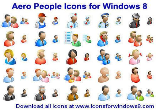 T l charger aero people icons for windows 8 - Windows office gratuit pour windows 8 ...