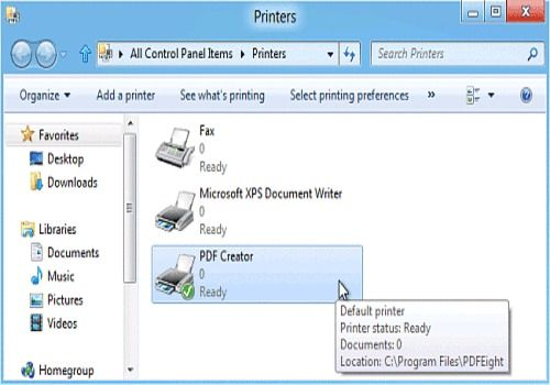 PDF Creator for Windows 8