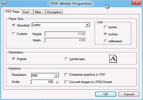 PDF Writer for Windows Server 2012