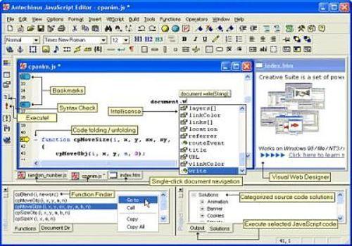Antechinus JavaScript Editor