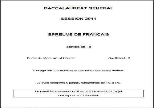 Dissertations bac francais