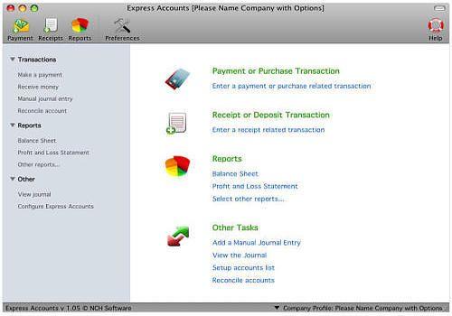 Express Accounts pour Mac