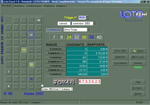 Loto Excel Universel