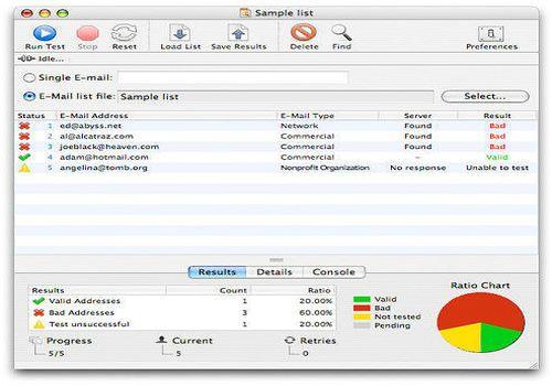 eMail Verifier X pour Mac