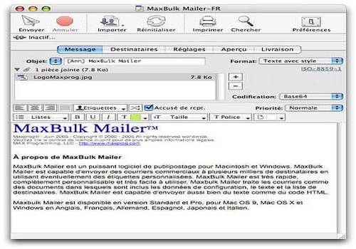 MaxBulk Mailer X pour Mac