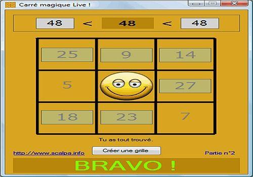 T l charger carr magique live 1 0 0 6 pour windows - Carre magique a imprimer ...