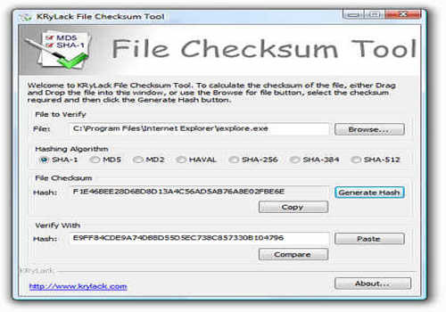 File Checksum Tool