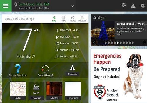 WeatherBug pour Mac