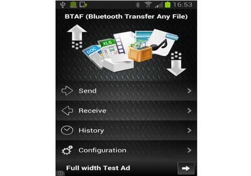 Bluetooth, Transférer Fichiers Android