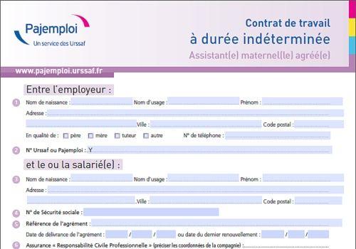 Télécharger Contrat de travail assistant(e) maternel(le) agréé(e