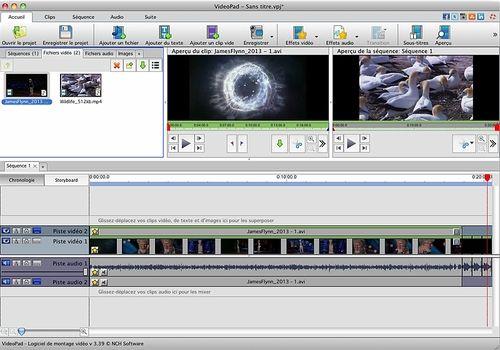 VideoPad - Montage vidéo gratuit pour Mac v5.29