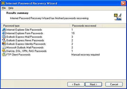 t l charger internet password recovery wizard pour windows shareware. Black Bedroom Furniture Sets. Home Design Ideas
