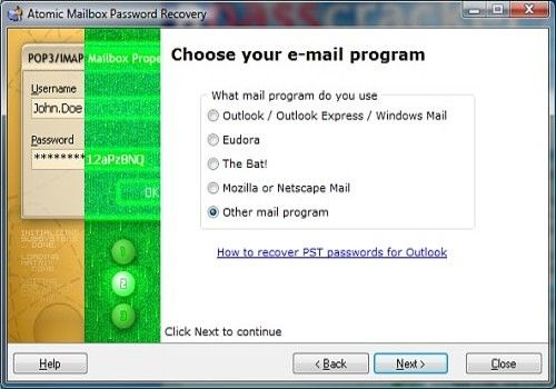 Atomic Mailbox Password Recovery