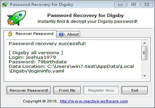 Password Recovery for Digsby