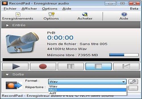 recordpad enregistreur audio gratuit