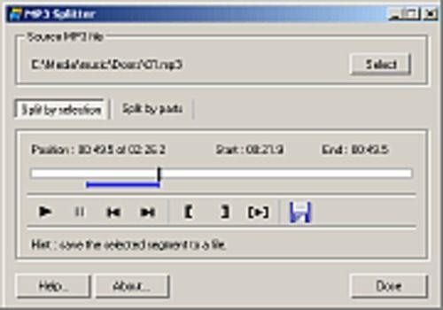 T l charger mp3 splitter pour windows shareware - Couper une musique mp3 en ligne ...