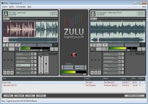 Zulu - Logiciel professionnel gratuit pour DJ