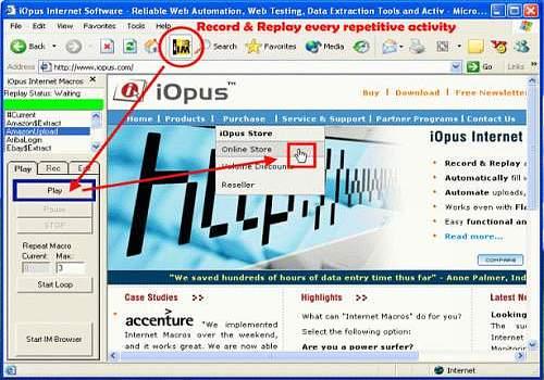 4IE iMacros Web Macro Recorder