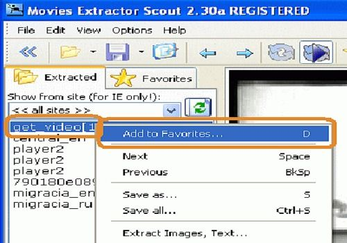 Movies Extractor Scout