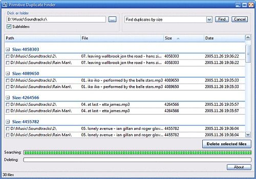 Primitive Duplicate Finder