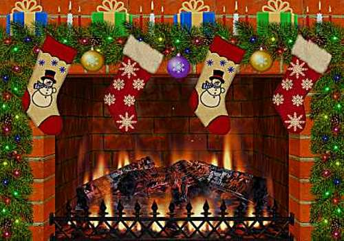 Christmas Decorated Fireplace Screensaver : T?l?charger christmas decorated fireplace pour windows