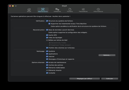 Onyx pour Mac