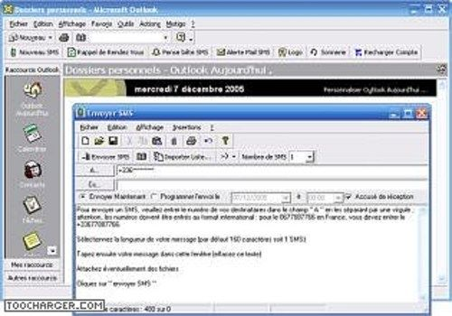SMS pour Outlook