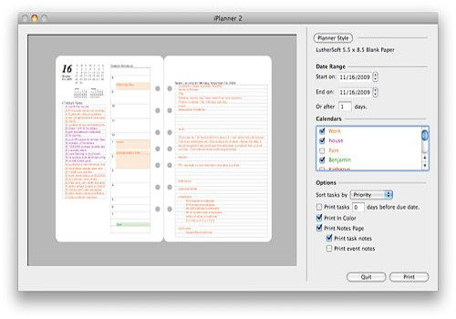 iPlanner by LutherSoft pour Mac