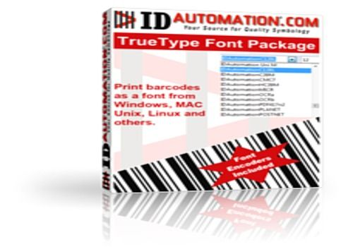 TrueType Barcode Fonts for Windows