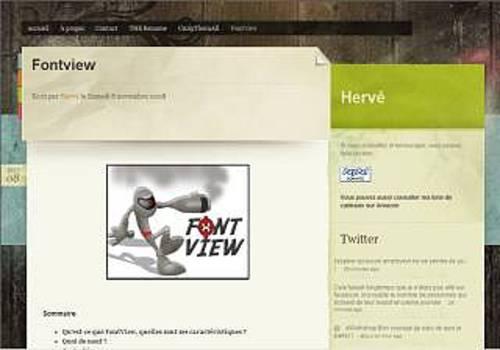 FontView