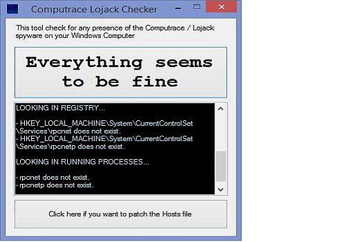 download computrace lojack checker 1 2 for windows freeware