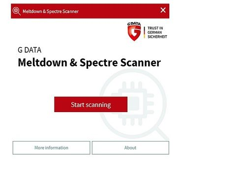 G DATA Meltdown & Spectre Scanner