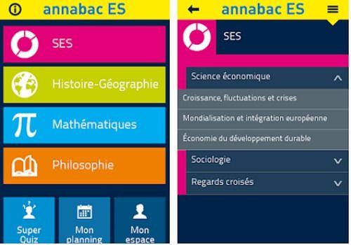 Annabac 2016 Bac ES iOS