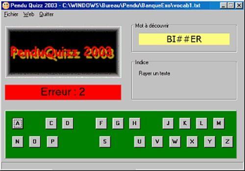 PenduQuizz 2003