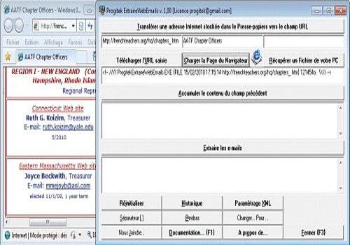 Progitek Extraire Web e-Mails