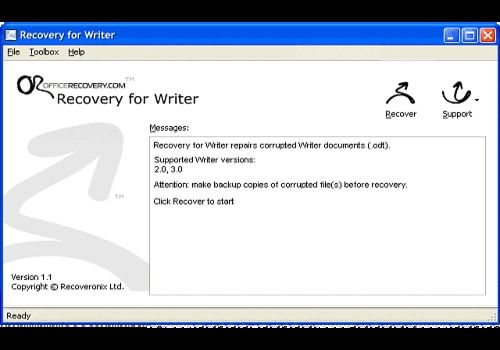 T l charger recovery for writer pour windows shareware - Telecharger open office writer ...