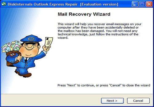 DiskInternals Outlook Express Repair