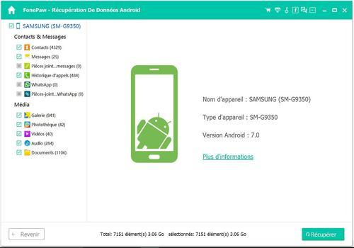 FonePaw - Récupération De Données Android pour Mac