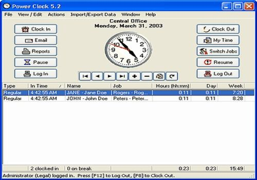 Power Clock