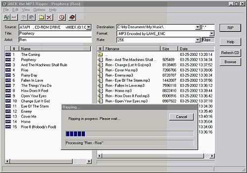 Jack The MP3 Ripper