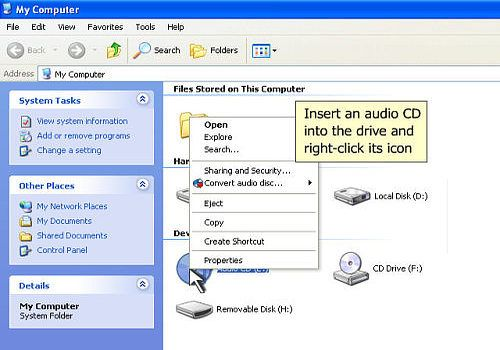 One-click CD to MP3 Converter