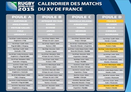T l charger calendrier du xv de france pour la coupe du monde 2015 pour windows freeware - Coupe d angleterre calendrier ...