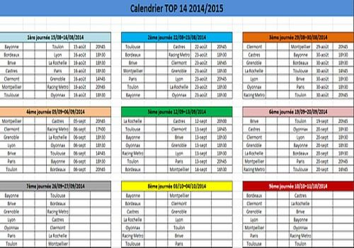T l charger calendrier top 14 2014 2015 pour windows freeware - Calendrier coupe europe rugby 2015 ...