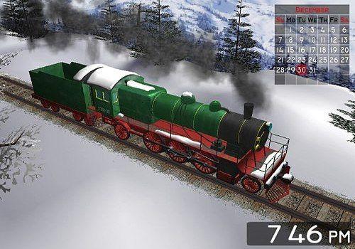 Winter Train 3D Screensaver