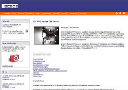 JSCAPE Secure FTP Server