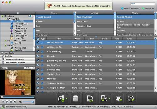 AnyMP4 Transfert iPad pour Mac Platinum